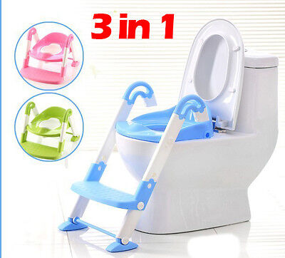 3 in 1 Potty Toilet Trainer Ladder Seat Step for Kids and Toddlers 6 months+