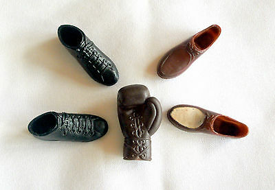 Vintage Ken Doll Boxing Glove Black Hi-Top Sneakers Shoes Brown Dress Loafers