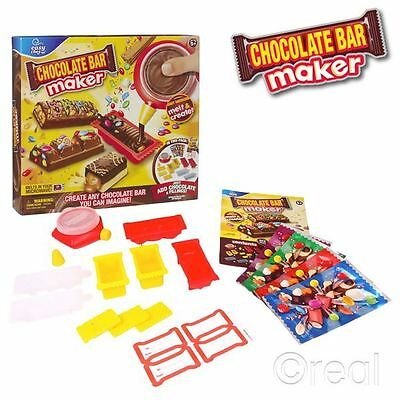 New Easy Chef Chocolate Bar Maker Children's Molds & Wrappers Official
