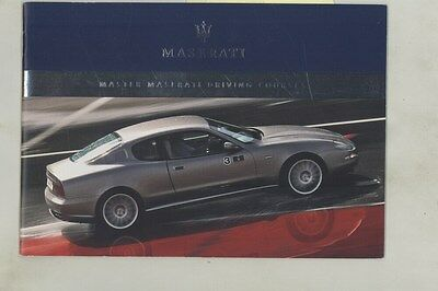 2006 Maserati Coupe GranSport Quatt, Road Atlanta Driving Course Brochure ww4316