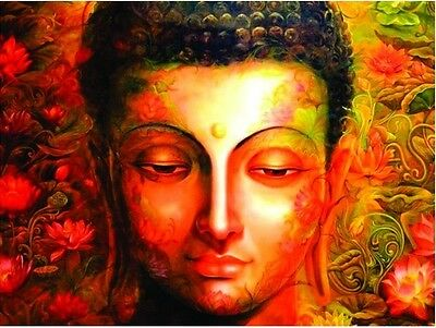 Paint by Numbers on Canvas DIY Acryl Painting Kit Home Decor Budda