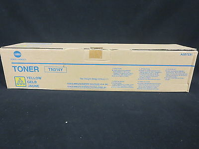 New Konica Minolta TN314Y Toner Cartridge Yellow A0D7231