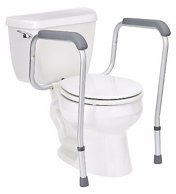 Handicap Grab Bars Toilet Safety Rail Seat Assist Elderly Bathroom with  Adjustab. Handicap Grab Bars Adjustable Toilet Safety Rail Seat Assist
