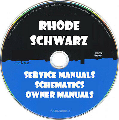 Rohde & Schwarz Repair Service Manuals & Schematics PDFs manuals on DVD Huge Set