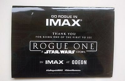 Rogue One Star Wars Odeon IMAX Souvenir Ticket Holder Poster Limited Edition