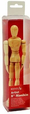 "Reeves 8"" Artists Wooden Manikin Mannequin  Lay Figure ( Moveable / Bendy Man )"