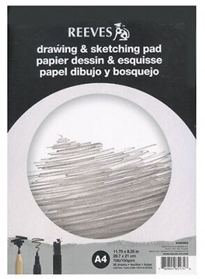 Reeves Artists Drawing & Sketching Cartridge Paper Pad - 150g - 50 Sheets - A3