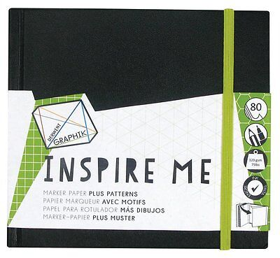 Derwent Inspire Me Hardback Sketchbook - Dots Triangles Squares Hexagons