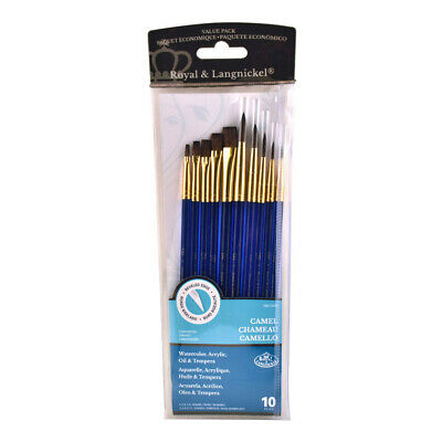 Royal Langnickel 10 Pure Sable Brushes Set For Artists Watercolour Painting SVP6