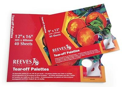 Reeves Artists Tear Off Disposable Palette for Oil / Acrylic - 9 x12 or 12x16