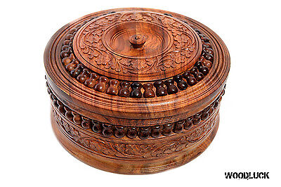 Dry Fruit Bowl , Hand Carved, Wooden Bowl, Fast Shipping