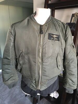 cfb02345573 1972 Vietnam USAF MA-1 FLIGHT JACKET US Air Force Mil. Alpha 💎 Medium