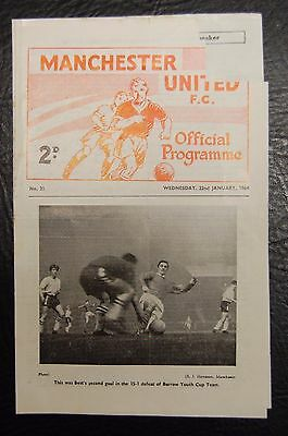 George Best  22/01/1964 Manchester United Youth V Blackpool Youth