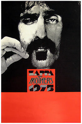 Frank Zappa * Mothers of Invention * Original Concert Poster * 1975