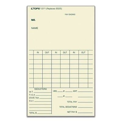 TOPS Time Card - 1271