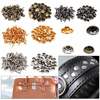 10mm x 18mm Extra Long Double Cap Rivets Metal Studs 50 Pack for Leather Crafts