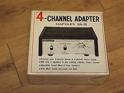 NAPOLEX QA-10 4 Channel adapter for Vintage Stereo Amplifier or Receivers NEW