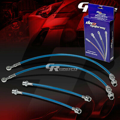High Performance Stainless Steel Braided Brake Line/cable For 89-94 Maxima Blue