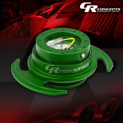 Nrg Universal Steering Wheel Lock Quick Release Adaptor Gen 3.0 Green Body+Ring