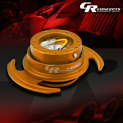 Nrg Universal Steering Wheel Lock Quick Release Adaptor Gen 3.0 Rosegold+Ring