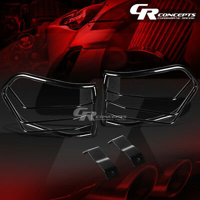 Pair Black Stainless Steel Tail Light/lamp Guard+Mount For 07-12 Fj Cruiser Suv