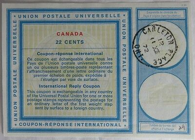 1972 Canada International Reply Coupon 22 Cents                  (Inv12895)