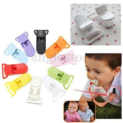 10/20Pcs Plastic KAM Pacifier Clips Toy Soother Dummy Bib Suspender Paci Holder