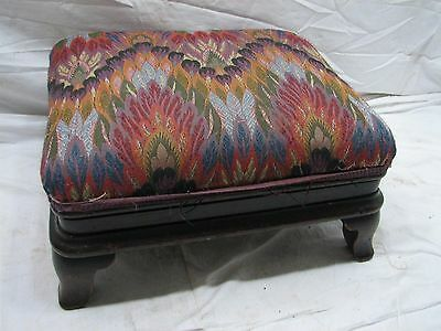 Adjustable Victorian Foot Stool Rest Chippendale Edwardian Upholstered Bench
