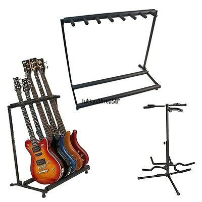 3/5/7 Acoustic Electric Bass Holder Guitars Stand Storage Display Rack Bar Club