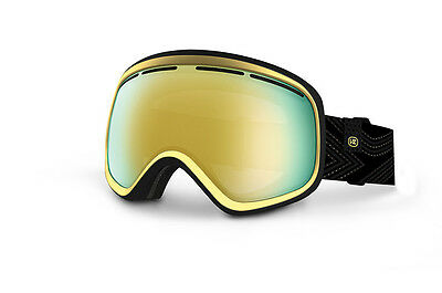 NEW Von Zipper SKYLAB Black Gold Gloss/Gold Chrome Snow Goggle RRP$159.99
