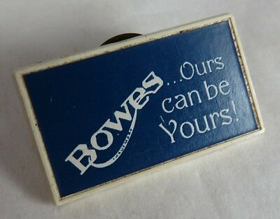 Vintage Bowes Ours Can Be Yours Plastic Pin                (Inv12854)