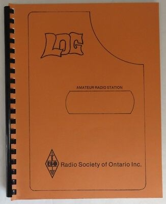 1980's AMATEUR RADIO SOCIETY OF ONTARIO LOG BOOK             (INV12875)