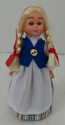 4 Inch Tall Plastic Sleepy Eyes Finland Doll                   (Inv12880)