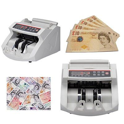 Money Bill Currency Counter Counting Machine Counterfeit Detector UV GB Cash