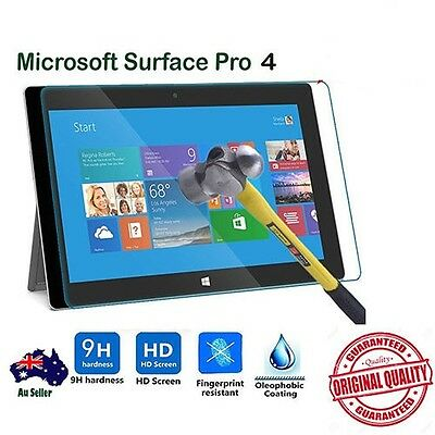 New Premium Tempered Glass LCD Screen Protector For Microsoft Surface Pro 4 Au