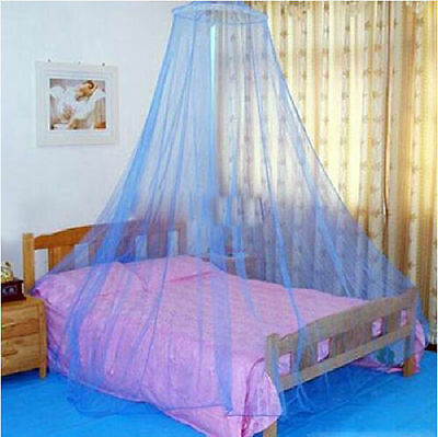 Round Curtain Bed Mosquito Net Mesh Canopy Netting Princess Dome Bedding DC