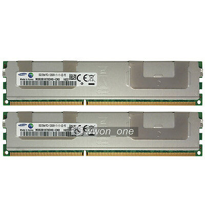 Samsung 16GB 2x8GB 2Rx4 PC3-12800R DDR3-1600Mhz 240Pin ECC REG Server Memory RAM