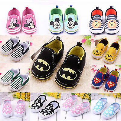 Kids Toddler Infant Boy Girl Slip On Loafers Baby Prewalkers Soft Sneakers Shoes