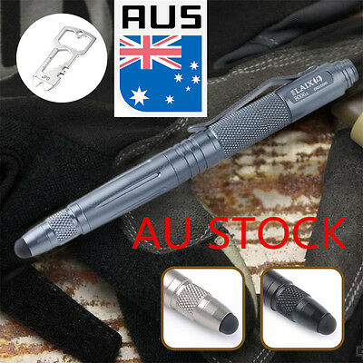 New Tungsten Steel Tactical Pen Stylus Hiking Camping Multi tool Knife AU Stock