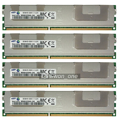 Samsung 32GB 4x8GB 2Rx4 PC3-12800R DDR3-1600Mhz 240Pin ECC REG Server Memory RAM