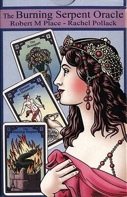 The Burning Serpent Lenormand Oracle Deck, Rachel Pollack, Robert M. Place - new