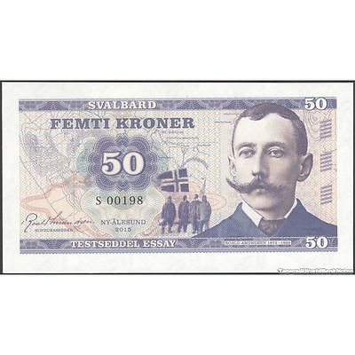 TWN - SVALBARD Norway - 50 Kroner 2015 UNC Low Serial 00XXX private issue