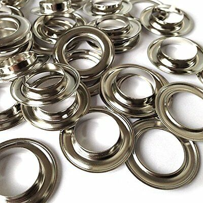 40mm Curtain Eyelet Rings Metal Brass Round Eyes Leather Crafts - 10 Pcs