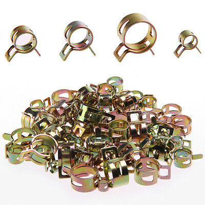 60Pcs Fuel Line Hose Spring Clip Water Pipe Air Tube Clamps 6/9/10/12/14/15mm UK