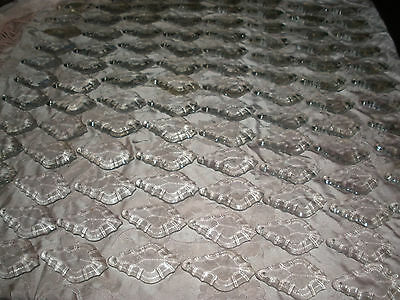 """lot of 100 pieces crystal glass Drop  2.5"""" long"""