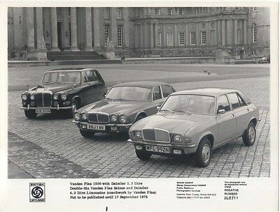 Daimler 5.3 & 4.2 Vanden Plas & VP 1500 original b&w Press Photograph No. 248711