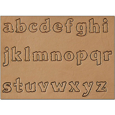 "Craftool 1/2"" Lower Case Alphabet Stamp Set & Handle Tandy Leather 8130-02 *F/S!"