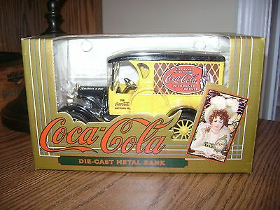 1993 Ertl~Coca-Cola Delivery Truck~Die-Cast Metal Coin Bank ~ #9432 ~ New