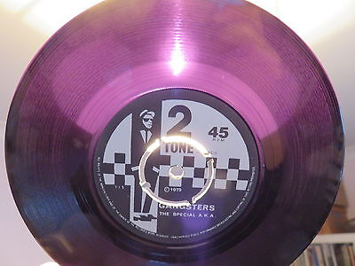 "THE SPECIAL A.K.A. Gangsters 2 TONE 7"" RUBY RED & 4 PRONG PAPER LABEL PRESSING"