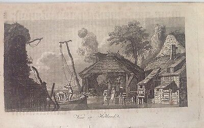 Antique Print 1804, A View Of Holland